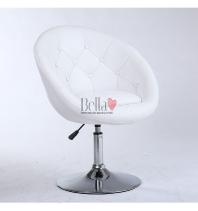 Bellafurniture White Salon Chair BFHC8516. White Chair for hairdressers and beauty salon. Stylish beauty salon chairs.