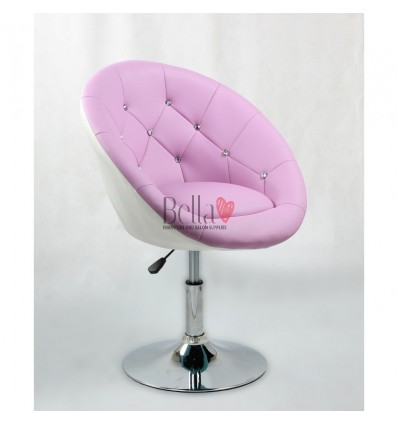 Bellafurniture Lavender-White Salon Chair BFHC8516. Lavender-White Chair for hairdressers and beauty salon. Stylish beauty salon