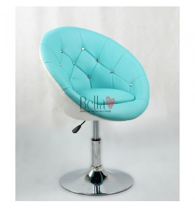 Bellafurniture Turquoise-White Salon Chair BFHC8516. Turquoise-White Chair for hairdressers and beauty salon. Stylish beauty sal