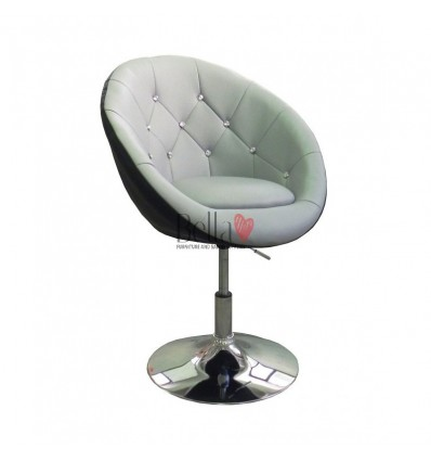 Bellafurniture Grey-Black Salon Chair BFHC8516. Grey-Black Chair for hairdressers and beauty salon. Stylish beauty salon chairs.