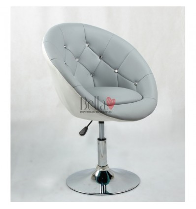 Bellafurniture Grey-White Salon Chair BFHC8516. Grey-White Chair for hairdressers and beauty salon. Stylish beauty salon chairs.