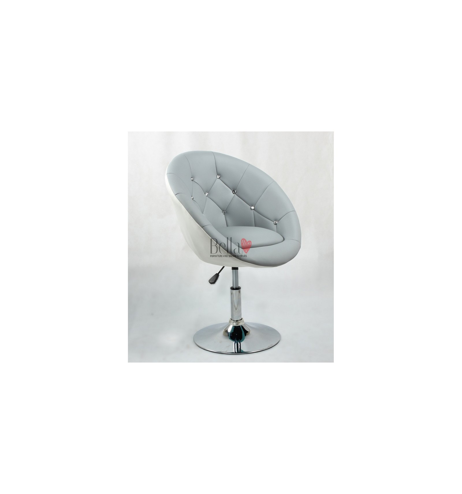 Bellafurniture Grey White Salon Chair Hc8516 For Hairdressers And Beauty