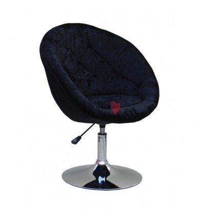 Black salon chair for beauticians, hairdressers. Stylish salon chair with solid base. Gas lift salon chairs Ireland. BFHC8516W