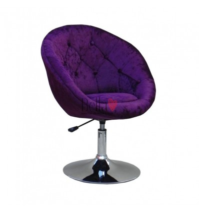 Purple salon chair for beauticians, hairdressers. Stylish salon chair with solid base. Gas lift salon chairs Ireland. BFHC8516W
