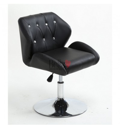 Chair Black BFHC949N. Black chair for beauty salon and hairdressers. Black salon chair with solid base. Bella Furniture