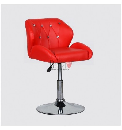 Chair Red BFHC949N. Black chair for beauty salon and hairdressers. Black salon chair with solid base. Bella Furniture
