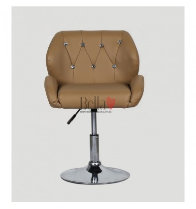 Chair Caramel BFHC949N. Black chair for beauty salon and hairdressers. Black salon chair with solid base. Bella Furniture