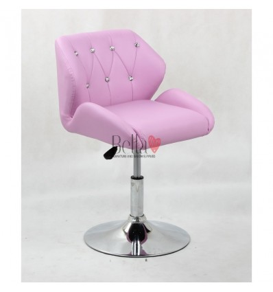 Chair Lavender BFHC949N. Lavender chair for beauty salon and hairdressers. Black salon chair with solid base. Bella Furniture
