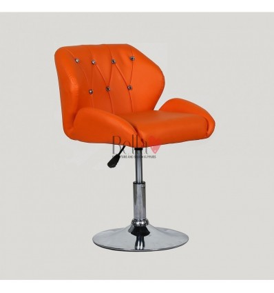 Chair Orange BFHC949N. Orange chair for beauty salon and hairdressers. Black salon chair with solid base. Bella Furniture