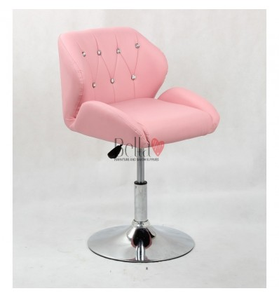 Chair Pink BFHC949N. Pink chair for beauty salon and hairdressers. Black salon chair with solid base. Bella Furniture