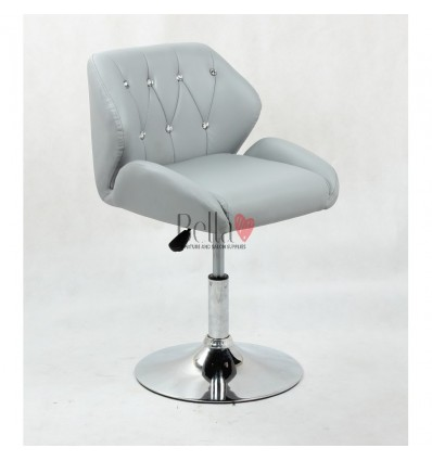 Chair Grey BFHC949N. Grey chair for beauty salon and hairdressers. Black salon chair with solid base. Bella Furniture