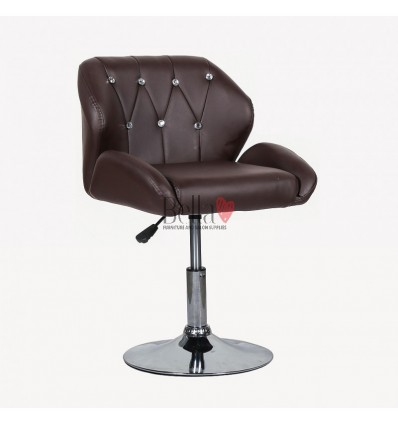 Chair Brown BFHC949N. Brown chair for beauty salon and hairdressers. Black salon chair with solid base. Bella Furniture
