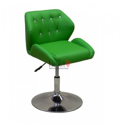 Chair Green BFHC949N. Green chair for beauty salon and hairdressers. Black salon chair with solid base. Bella Furniture