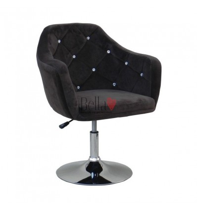Brown. Beautiful salon chair. Unique chair for beauty salon, hairdresser and nail salon. Bella Furniture Chair Black BFHC830