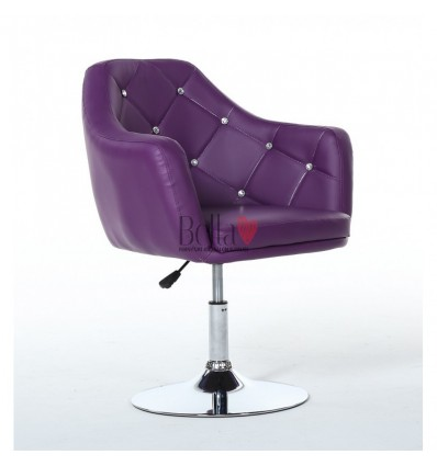 Purple. Beautiful salon chair. Unique chair for beauty salon, hairdresser and nail salon. Bella Furniture Chair Purple BFHC830