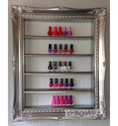 NAIL POLISH RACK SILVER CHROME