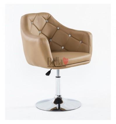 Caramel. Beautiful salon chair. Unique chair for beauty salon, hairdresser and nail salon. Bella Furniture Chair Caramel BFHC830
