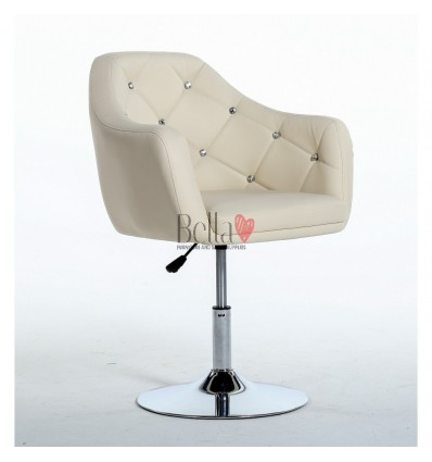 Cream. Beautiful salon chair. Unique chair for beauty salon, hairdresser and nail salon. Bella Furniture Chair Cream BFHC830