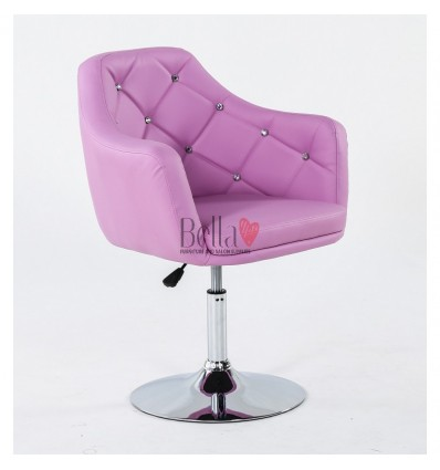 Lavender. Beautiful salon chair. Unique chair for beauty salon, hairdresser and nail salon. Bella Furniture Chair Lavender BFHC8