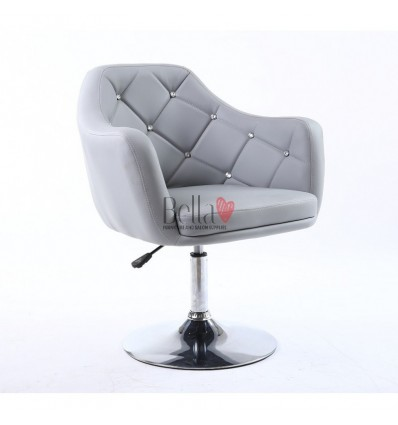 Grey. Beautiful salon chair. Unique chair for beauty salon, hairdresser and nail salon. Bella Furniture Chair Grey BFHC830