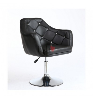 Black velour . Beautiful salon chair. Unique chair for beauty salon, hairdresser and nail salon. Bella Furniture Chair Black Vel