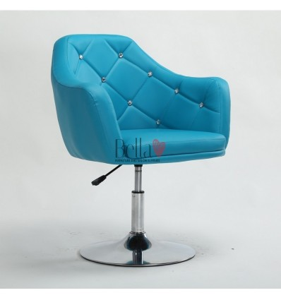 Turquoise. Beautiful salon chair. Unique chair for beauty salon, hairdresser and nail salon. Bella Furniture Chair Turquoise BFH