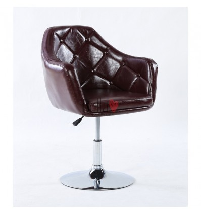 Elegant brown chairs for beauty salon. Elegant brown chair for hairdresser. Chair Brown BFHC830B