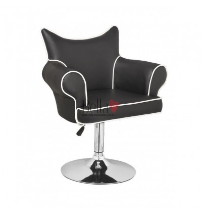 Modern chair for beauty salon. Modern chair for hairdresser. Modern chair for nail salon. Chair Black BFHC332