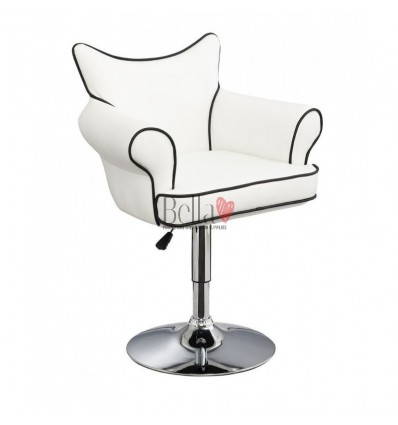 Modern white chair for beauty salon. Modern chair for hairdresser. Modern chair for nail salon. Chair white BFHC332