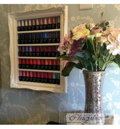 WHITE FRENCH BAROQUE STYLE NAIL POLISH DISPLAY