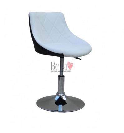 Chair for beauty salon. Chair for hairdresser. Chair for nail salon. Chair White Black BFHC931N