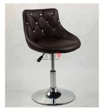 Chair for beauty salon. Chair for hairdresser. Chair for nail salon. Chair Brown BFHC931N