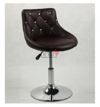 Chair for beauty salon. Chair for hairdresser. Chair for nail salon. Chair Brown BFHC931N