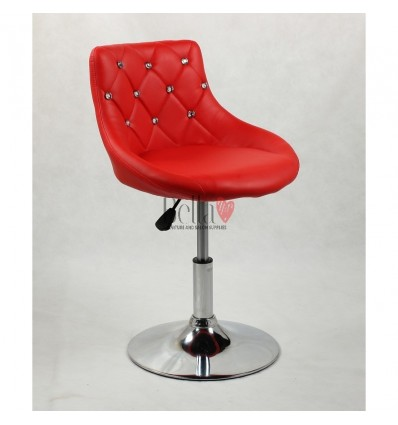 Chair for beauty salon. Chair for hairdresser. Chair for nail salon. Chair Red BFHC931N