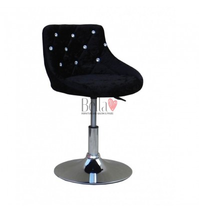 Chair for beauty salon. Chair for hairdresser. Chair for nail salon. Chair Black velour BFHC931N