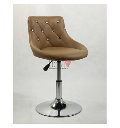 Chair for beauty salon. Chair for hairdresser. Chair for nail salon. Chair Caramel BFHC931N