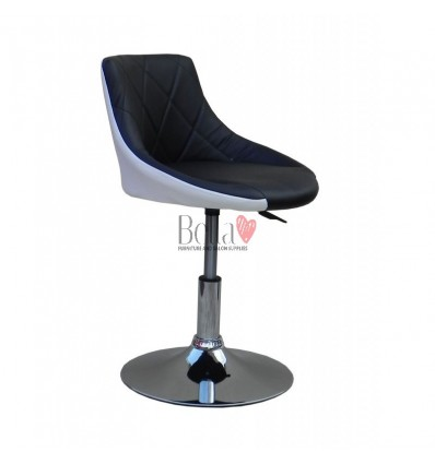 Chair for beauty salon. Chair for hairdresser. Chair for nail salon. Chair Black white BFHC931N