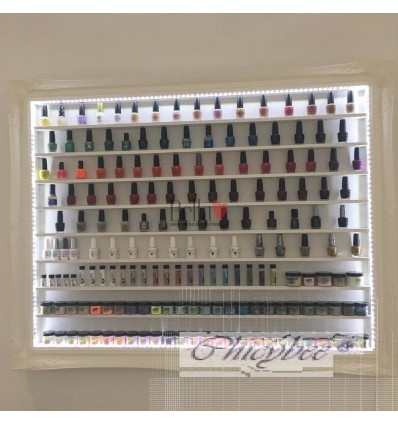 NAIL POLISH DISPLAY FRAME RACK EXTRA LARGE FRENCH BAROQUE STYLE WITH LED LIGHTING