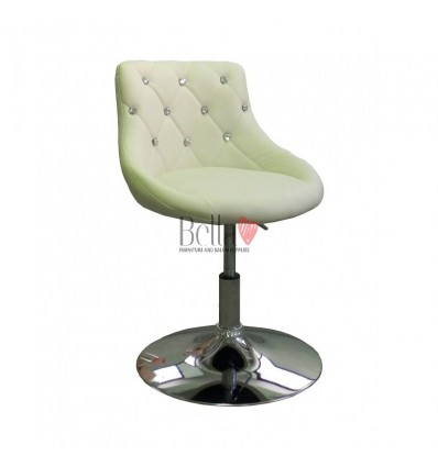 Chair for beauty salon. Chair for hairdresser. Chair for nail salon. Chair Cream BFHC931N