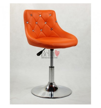 Chair for beauty salon. Chair for hairdresser. Chair for nail salon. Chair Orange BFHC931N