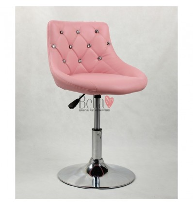 Chair for beauty salon. Chair for hairdresser. Chair for nail salon. Chair Pink BFHC931N