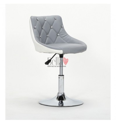 Chair for beauty salon. Chair for hairdresser. Chair for nail salon. Chair Grey White BFHC931N