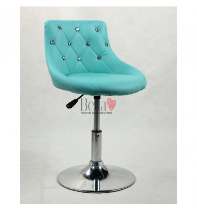 Chair for beauty salon. Chair for hairdresser. Chair for nail salon. Chair Turquoise BFHC931N