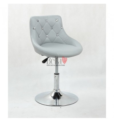 Chair for beauty salon. Chair for hairdresser. Chair for nail salon. Chair Grey BFHC931N