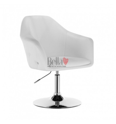 Exclusive chair for beauty salon. Exclusive chair for hairdresser and nail salon. Chair White BFHC547