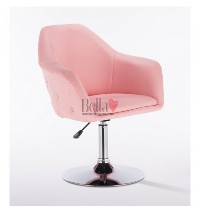 Exclusive pink chair for beauty salon. Exclusive pink chair for hairdresser and nail salon. Chair Pink BFHC547