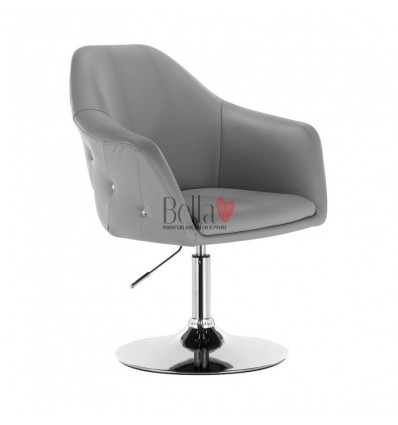 Exclusive grey chair for beauty salon. Exclusive grey chair for hairdresser and nail salon. Chair Grey BFHC547