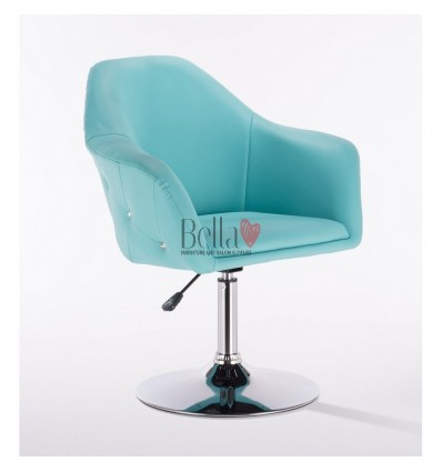 Exclusive Turquoise chair for beauty salon. Exclusive Turquoise chair for hairdresser and nail salon. Chair Turquoise BFHC547