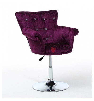 Purple chair for beauty salon ireland. Purple chair for nail salon Ireland. Chair Black BFHC804