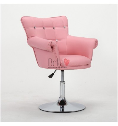 Pink chair for beauty salon ireland. Pink chair for nail salon Ireland. Chair Black BFHC804